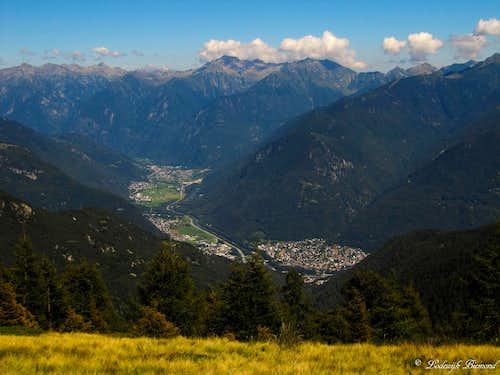 View into the valley towards Roveredo
