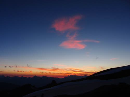Les Diablerets at sunset