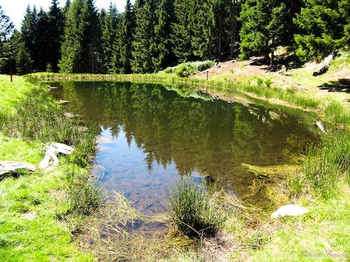 The small lake above Mornera (1400m)