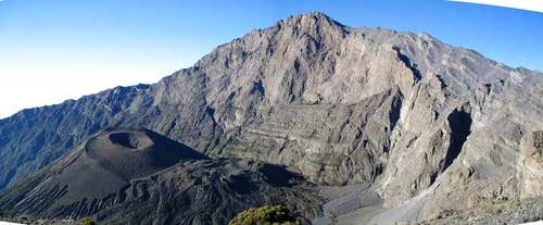 Panoramic view of Mt Meru...