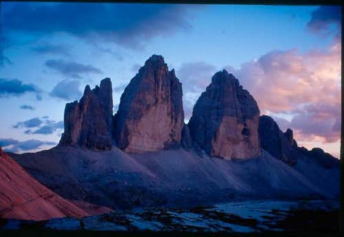 Sunset on Tre Cime di...