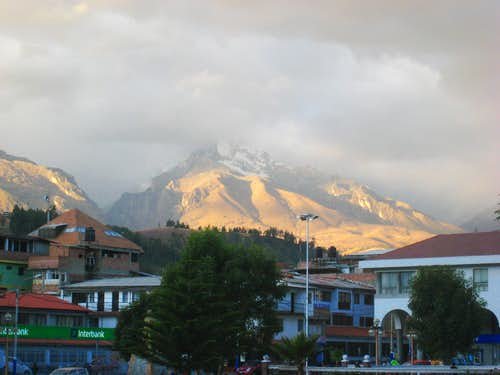 Vallunaraju from Huaraz