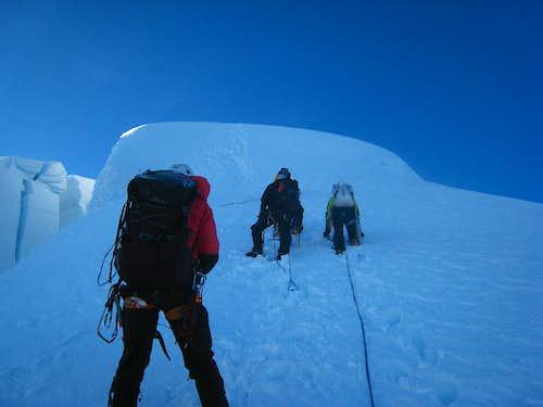 Climbing Tocclaraju