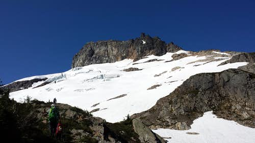 Sloan Peak over Sloan Glacier