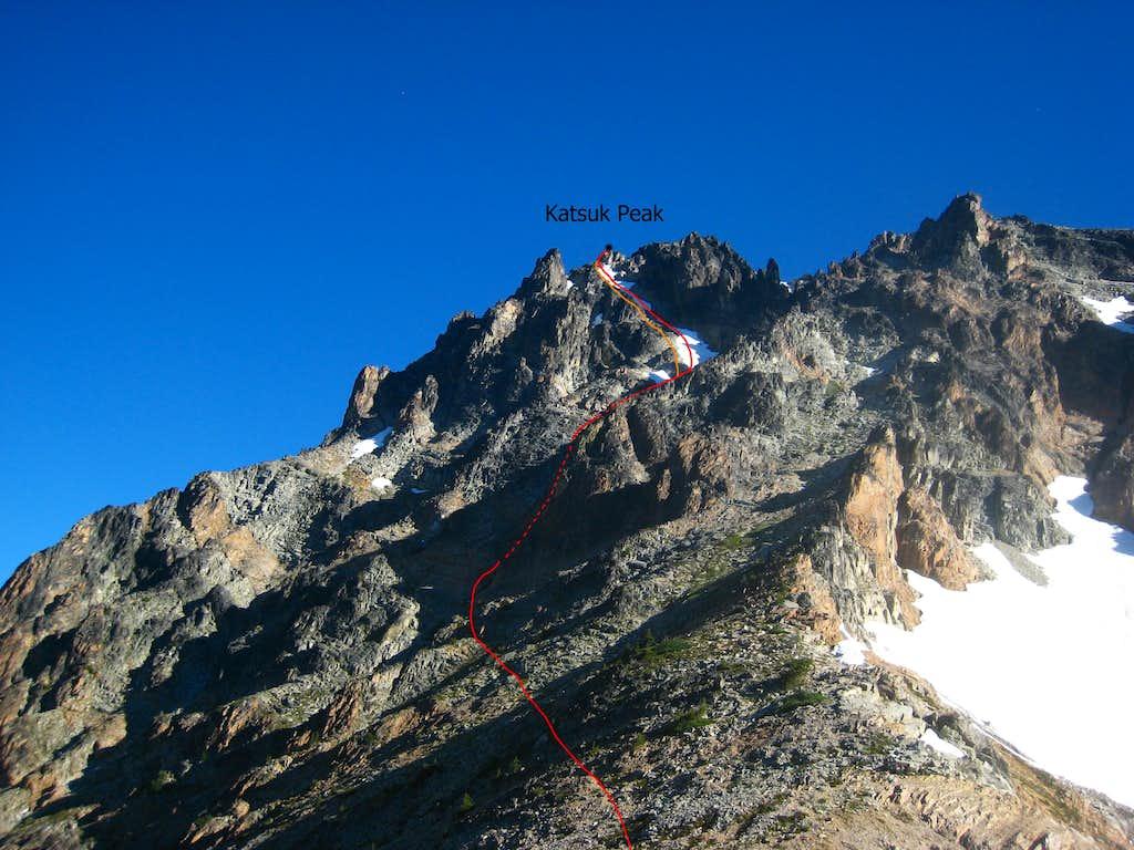 Katsuk Peak Route Diagram