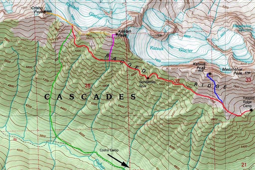 Cosho and Kimtah Map