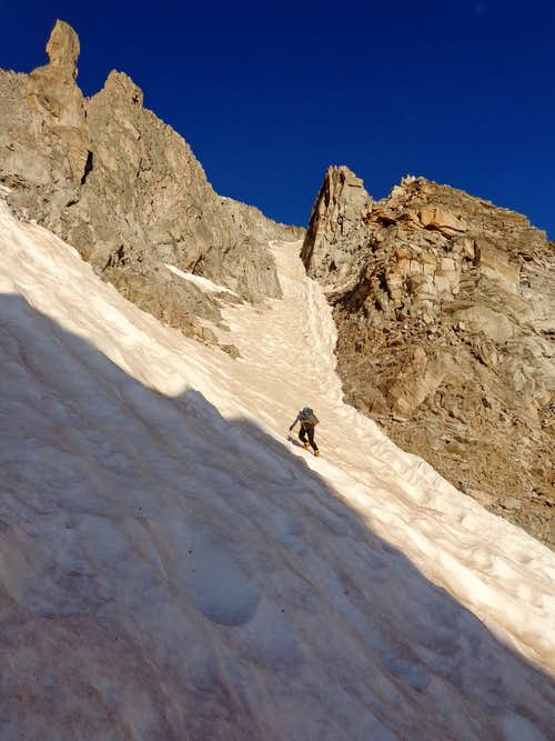 X Couloir middle section