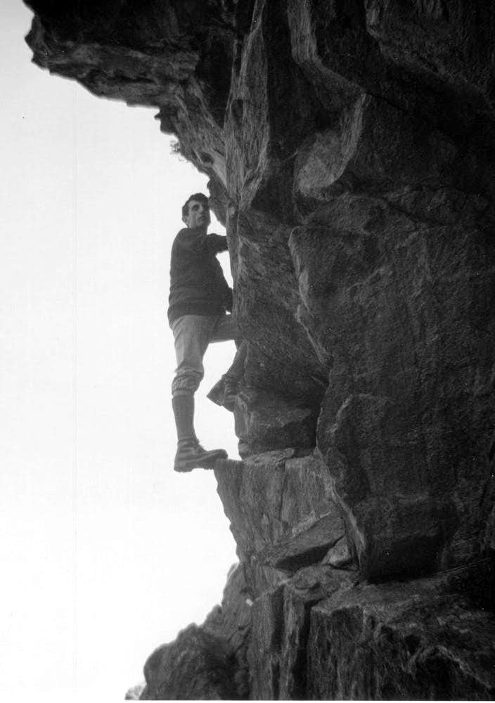 Nearly Seven Authors in B&W (By Ilario) Climbing 1967