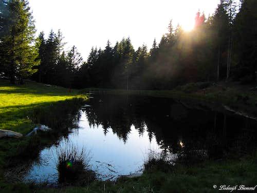 Mornera Lake in the Evening light