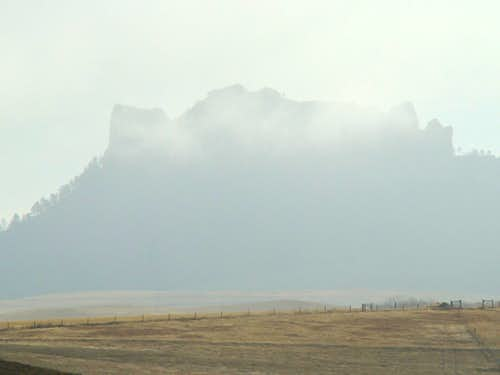 Smoke around Crow Butte
