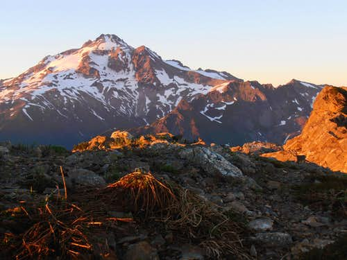 Glacier Peak sunset from Portal