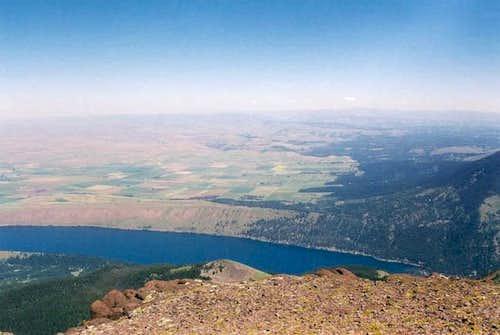 Wallowa Lake from the summit...