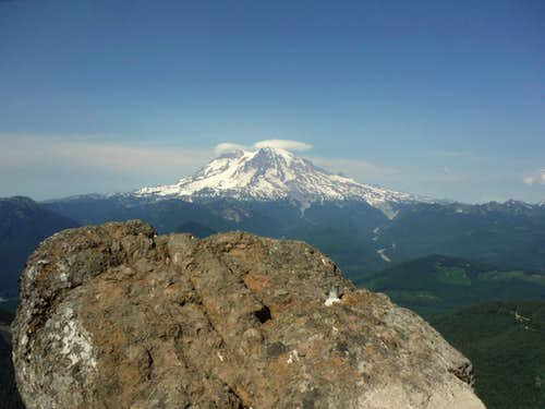 The stunning view of Rainier