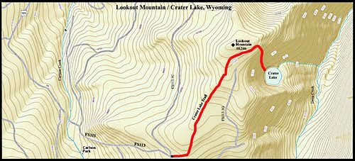 Lookout Mountain Route Map