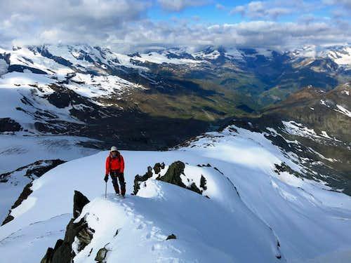 Looking back towards Zermatt from near Point 4009