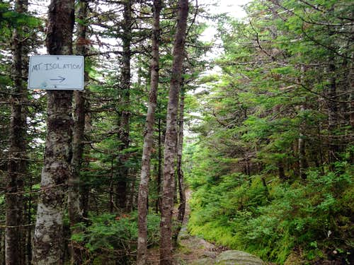 Mount Isolation Spur Trail Sign