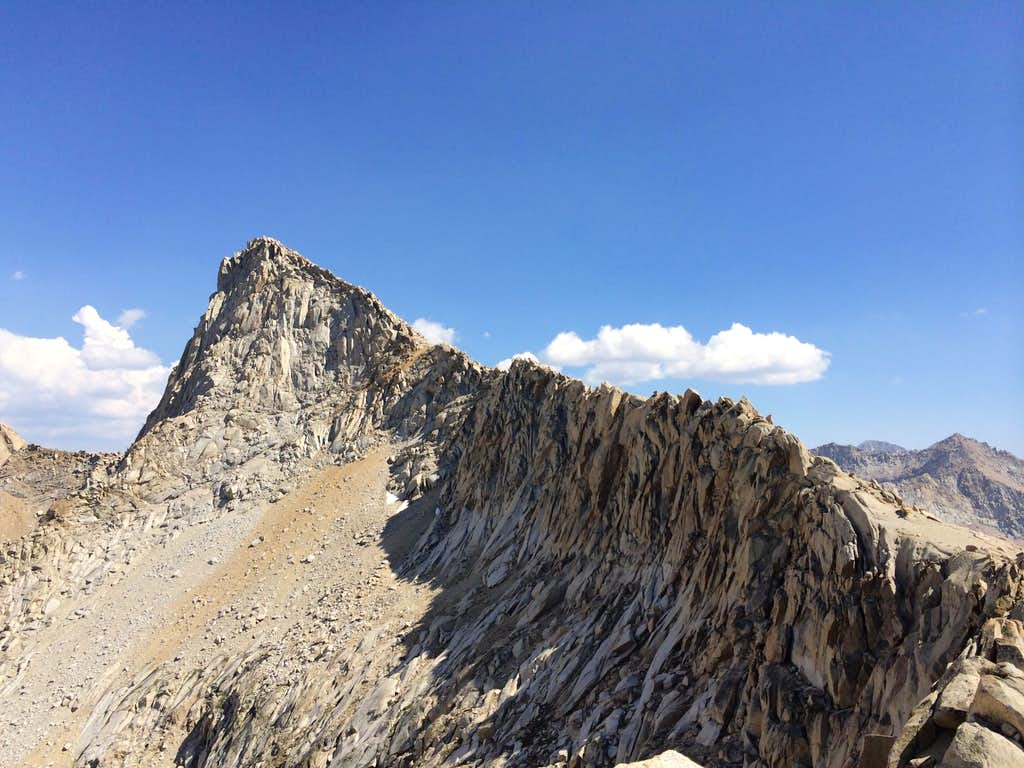 Sawtooth Peak from Sawtooth Pass
