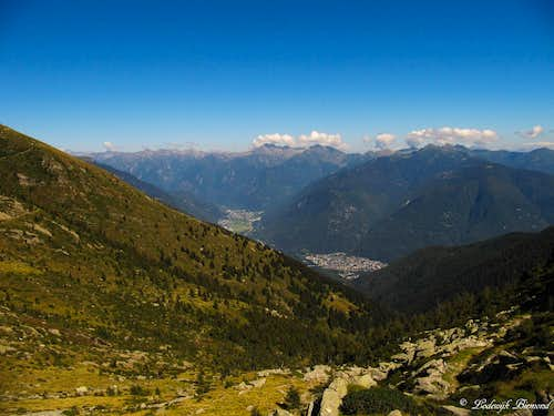 View into the Leventina valley