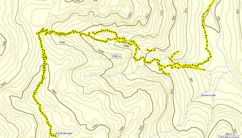 Puzzle Mtn. GPS track