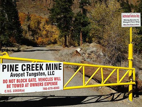 Pine Creek Mine Gate - Road's End