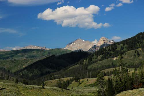 Antoinette Peak and Open Door Mountain