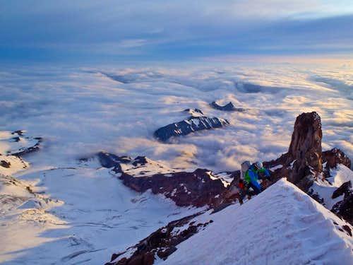 Climbing Curtis Ridge