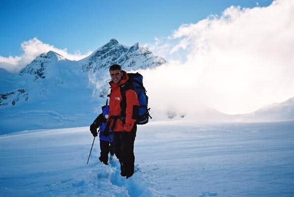 This is Mark on the glacier...
