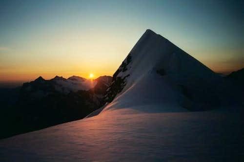 Dawn over the Wetterhorn at...