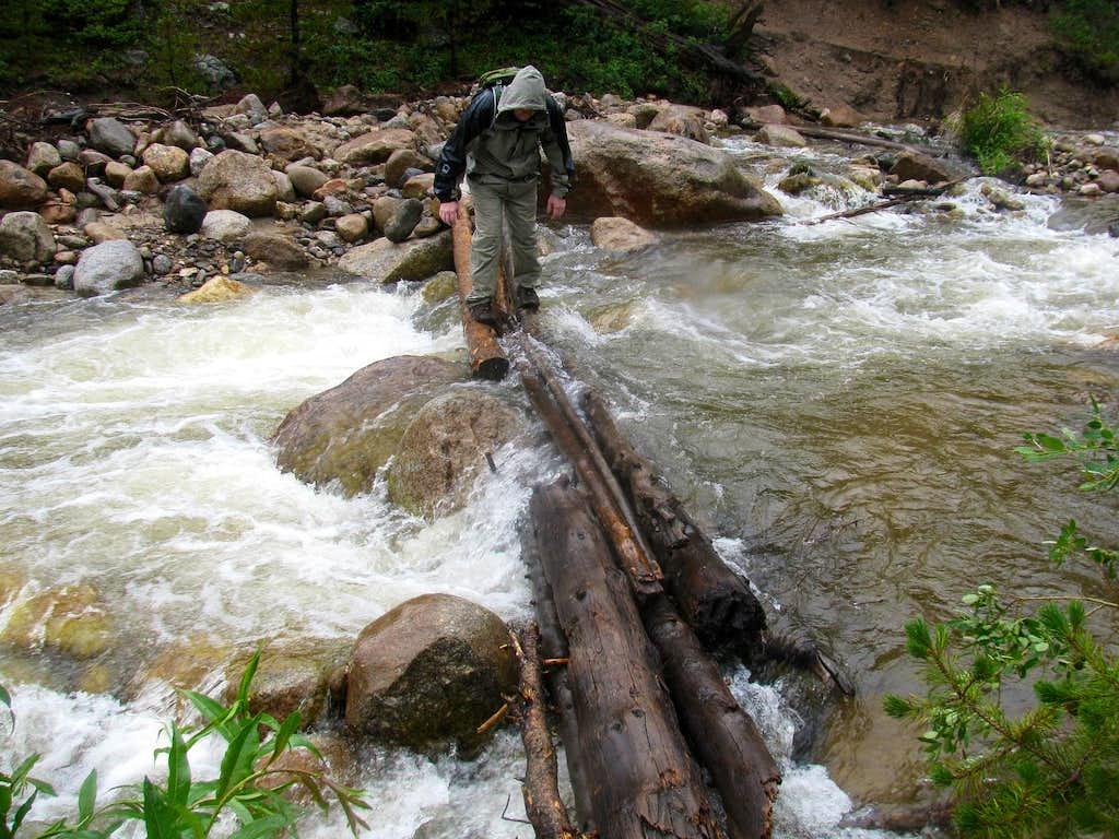 Roaring River - Log Crossing