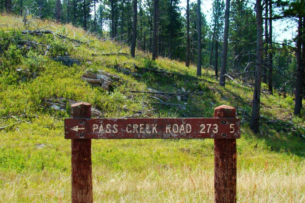 Pass Creek Road Sign