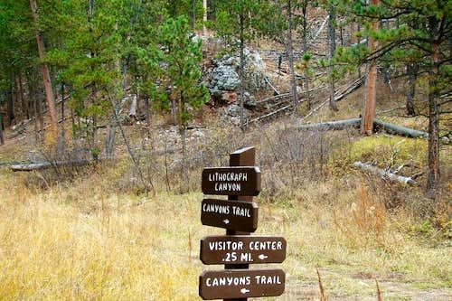 Lithograph Canyon Signpost