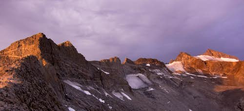 Full East Ridge of Lyell from Donahue Pass