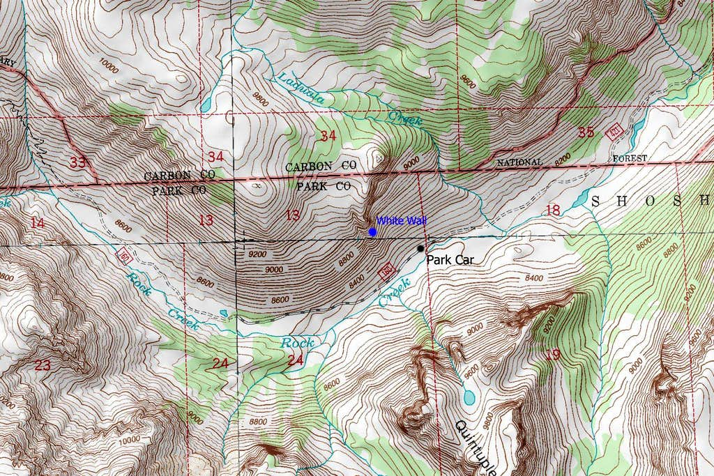 Linea Alba location map