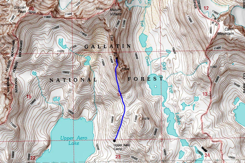 Villard Spires HP Map