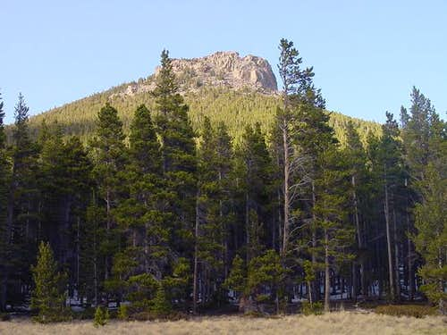 The view of Estes Cone from a...