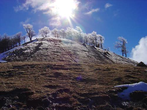 The summit of Itoleta in the...