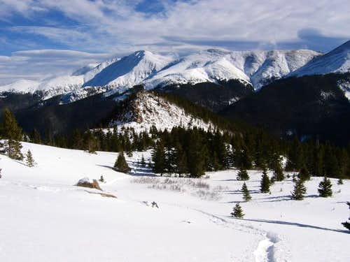 Parry Peak from high in the...