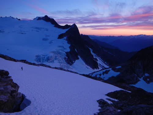 Neve Glacier Sunset