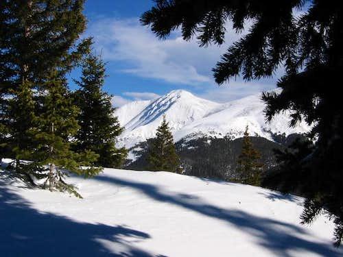 Parry Peak seen through the...