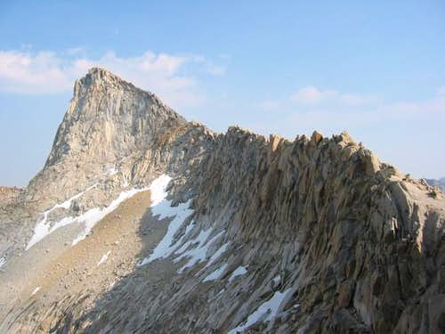A look up at Sawtooth from...