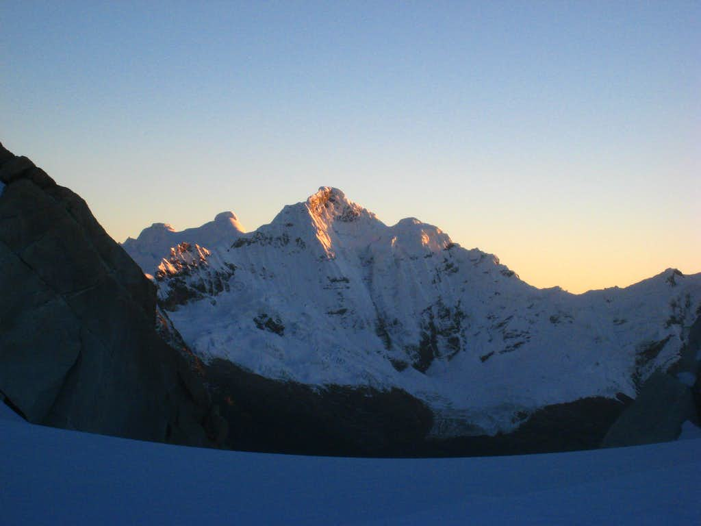 Sunrise near the summit of Urus