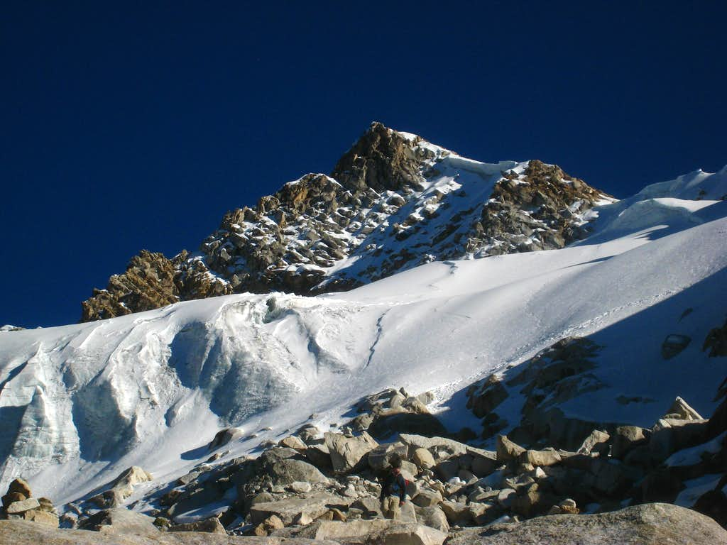 Urus seen from the glaciers edge