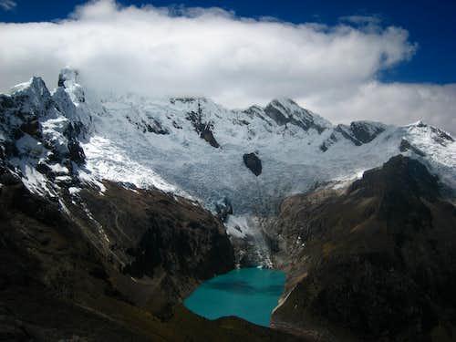 Lake near Alpamayo base camp