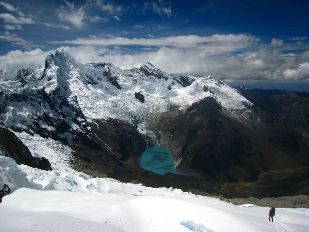 Climbing to Alpamayo high camp