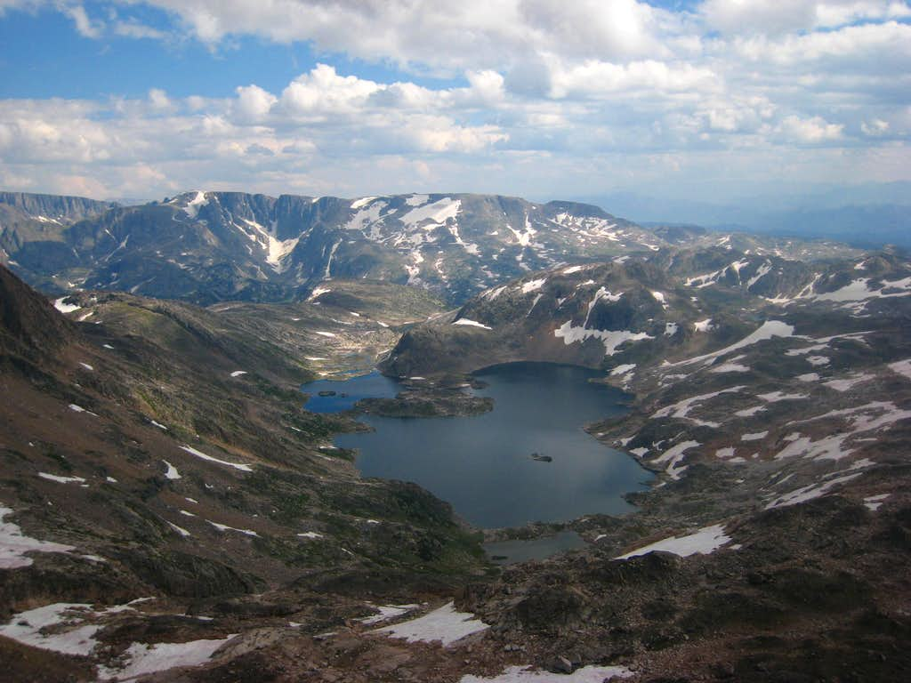 Cairn Lake from Cairn Mountain