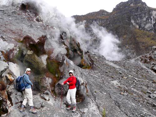 Fumaroles at Guagua