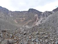 The way back up to the crater rim.