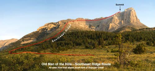 Old Man of the Hills Southeast Ridge Route