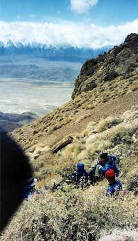 Ridgeline ascent en route to...