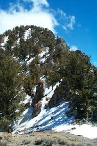 north ridge of Keynot Peak as...